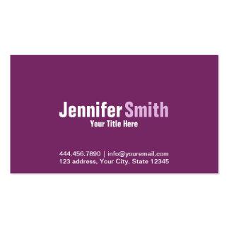 Professional Modern Purple Plain Business Card
