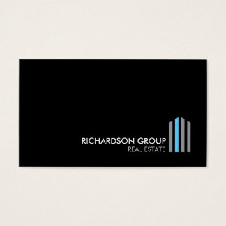 Professional Modern Real Estate Building Logo III Business Card