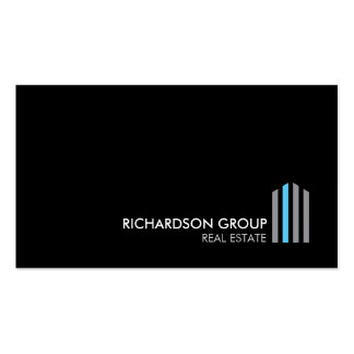 Professional Modern Real Estate Building Logo III Pack Of Standard Business Cards