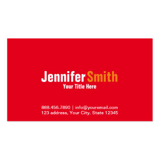 Professional Modern Red Plain Business Card