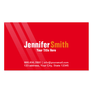 Professional Modern Red With Stripes Pack Of Standard Business Cards