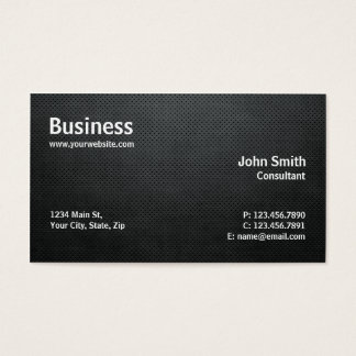 Professional Modern Simple Computer Repair Black Business Card