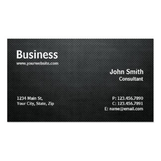 Professional Modern Simple Computer Repair Black Pack Of Standard Business Cards