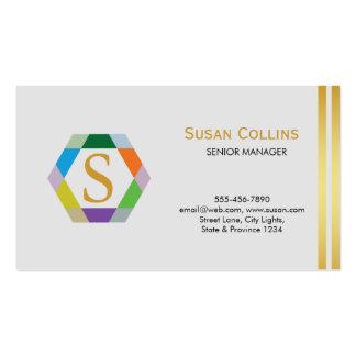 Professional Modern Simple Plain Logo Hexagon Business Cards