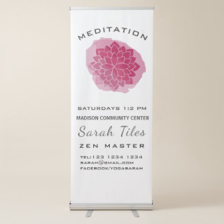 Professional Modern YOGA/MEDITATION Promotional Retractable Banner
