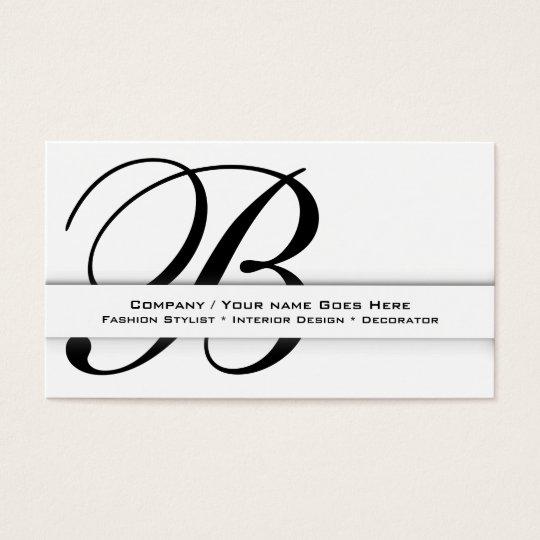 "Professional monogram ""B"" business CUSTOM Business Card"