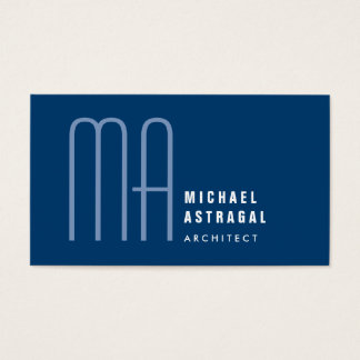 Professional Monogram Custom Color Business Card
