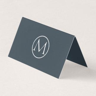 Professional Monogram Elegant Charcoal Business Card