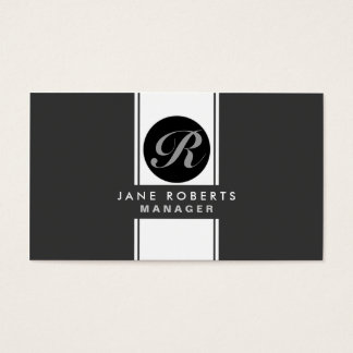 Professional Monogram Elegant Cosmetologist Makeup Business Card