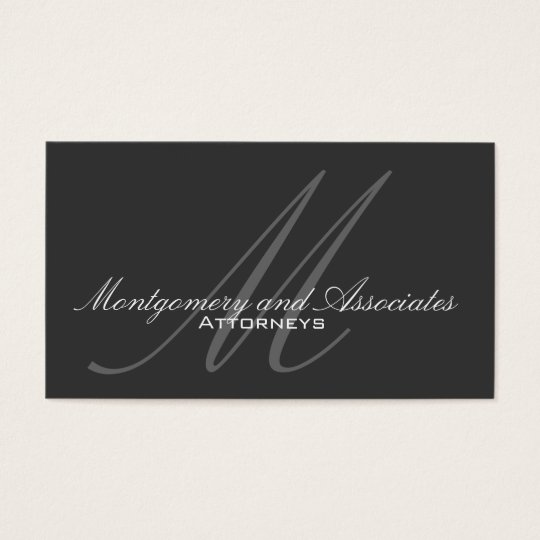 Professional Monogram Lawyer Business Card
