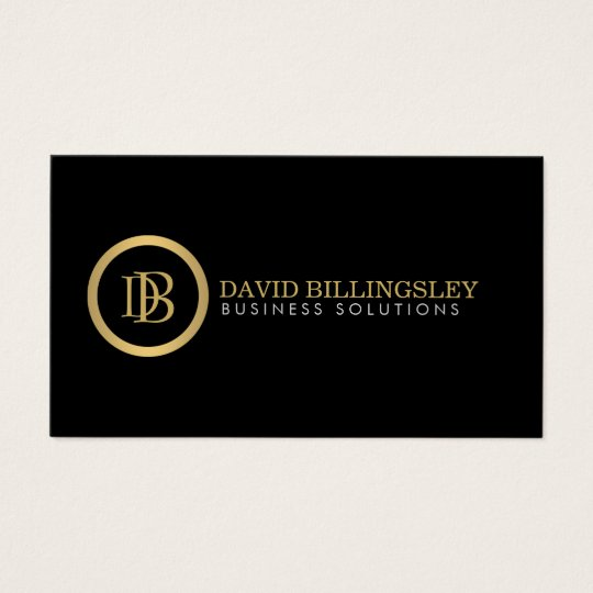 Professional Monogram Logo in Faux Gold II Business