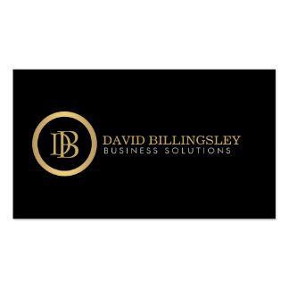 Professional Monogram Logo in Faux Gold II Pack Of Standard Business Cards
