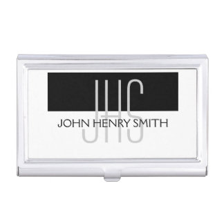 Professional monogram masculine men's business card holder