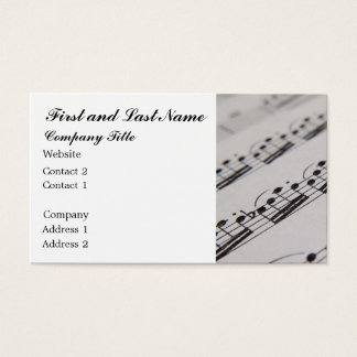 Professional Musician Business Card