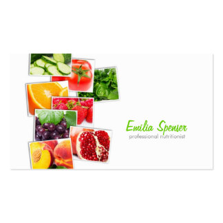 Professional nutritionist business card