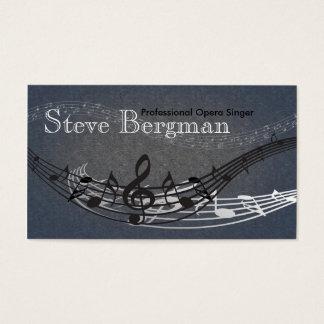 Professional Opera Singer Musician Card