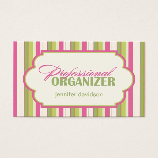 Professional Organiser Business Cards