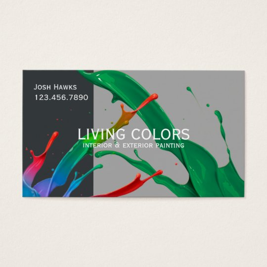 Professional Painting Company Business Card
