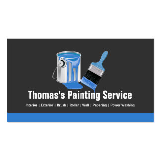 Professional Painting Service - Blue Painter Brush Pack Of Standard Business Cards