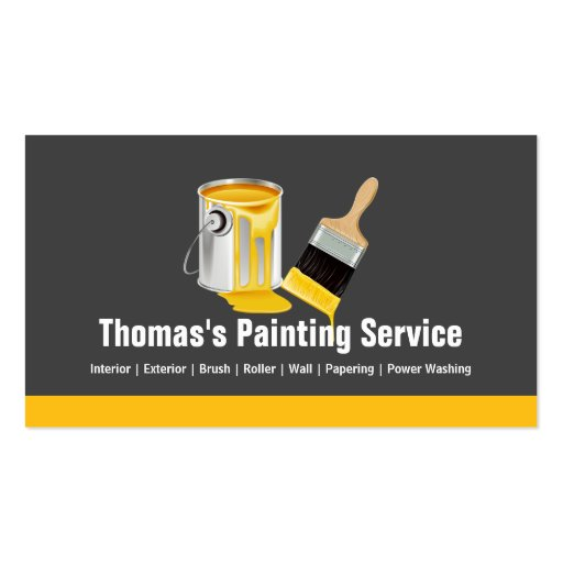 Create your own contractor business cards for Professional painter business card