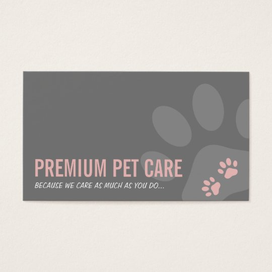 PROFESSIONAL PAW PRINTS pet care cute pink grey