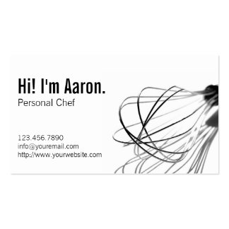 Professional Personal Chef Business Cards