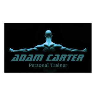 Professional Personal Trainer / Bodybuilder Card Business Card Template