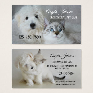 Professional Pet Care Business Card