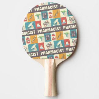 Professional Pharmacist Iconic Designed Ping Pong Paddle