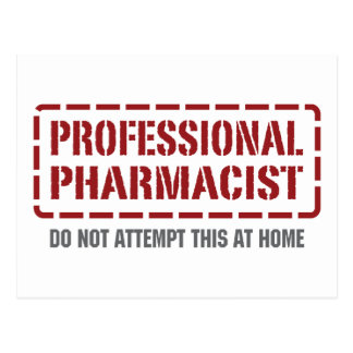 Professional Pharmacist Postcard