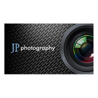 Professional Photographer Camera Lens Pack Of Standard Business Cards