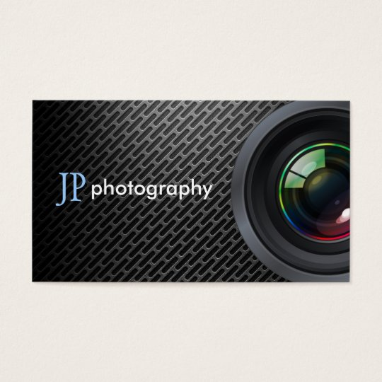 Professional Photographer Camera Lens Business Card