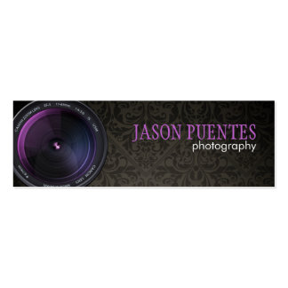 Professional Photographer Camera Lens Business Cards