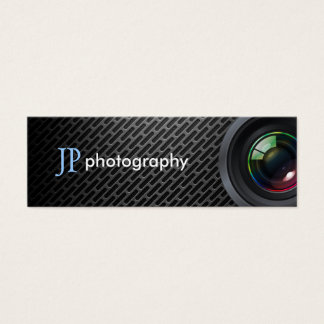 Professional Photographer Camera Lens Mini Business Card