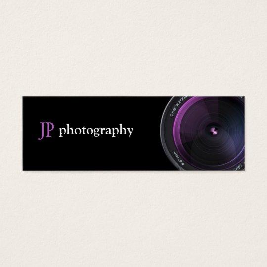 Professional Photographer Camera Lens Mini Business Card