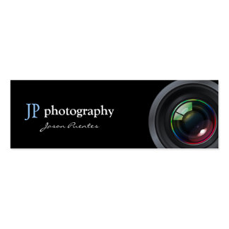 Professional Photographer Camera Lens Pack Of Skinny Business Cards