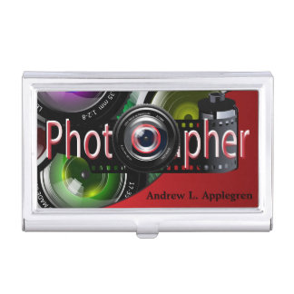 Professional Photographer | Red Business Card Holder