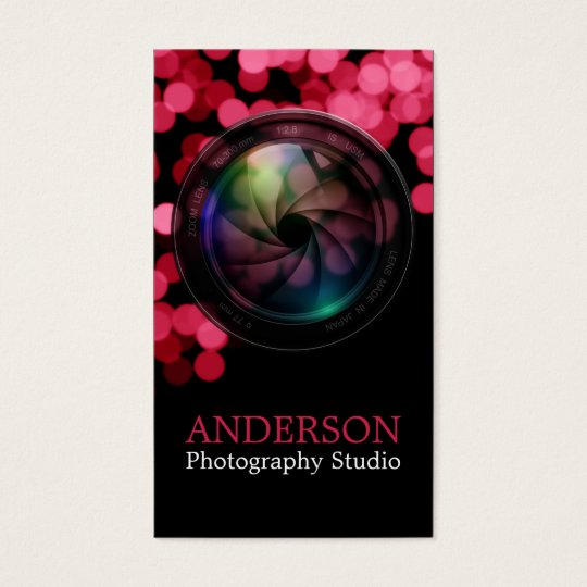 Professional Photographer Vertical Business Card a