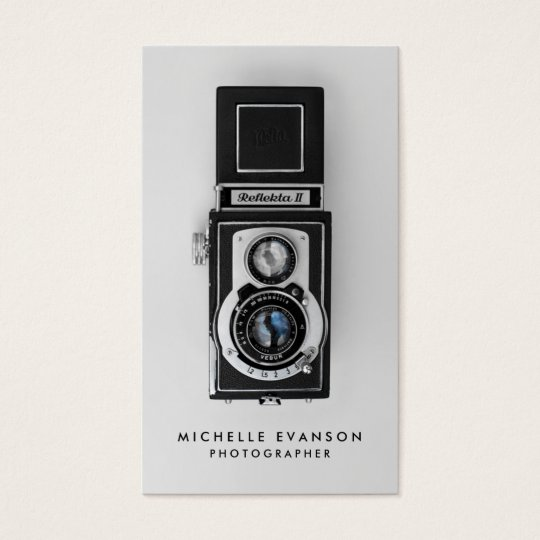 Professional Photographer Vintage Camera Business Card