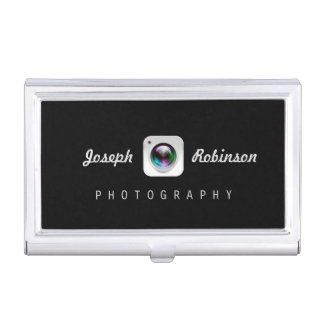 Professional Photography Camera Lens Logo Symbol Business Card Holder