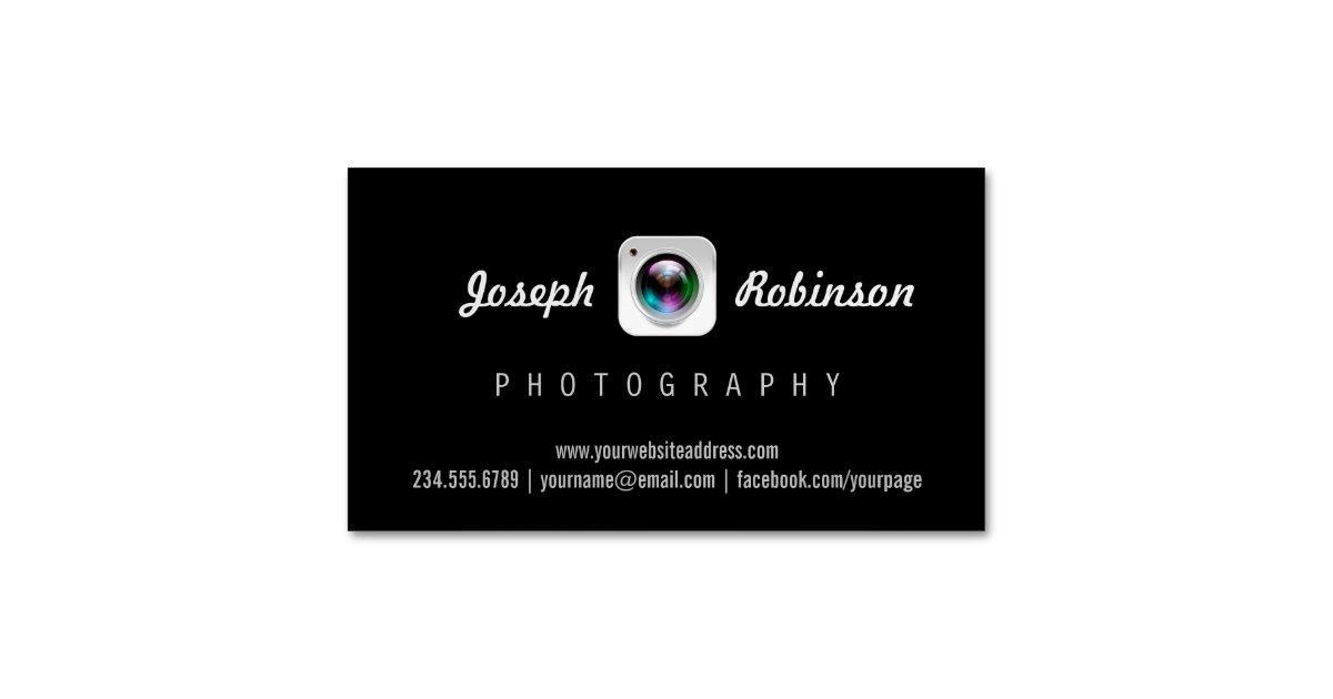Professional photography camera lens logo symbol magnetic business professional photography camera lens logo symbol magnetic business card zazzle colourmoves