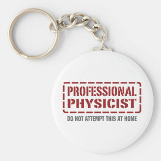 Professional Physicist Basic Round Button Key Ring