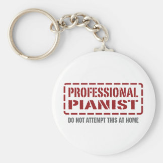 Professional Pianist Basic Round Button Key Ring