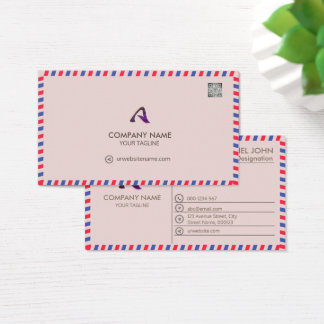 PROFESSIONAL PINK -CORPORATE WITH A LOGO &  CARD