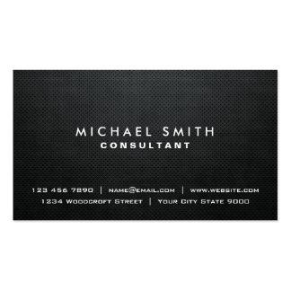 Professional Plain Elegant Black Modern Simple Pack Of Standard Business Cards