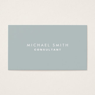 Professional Plain Elegant Interior Decorator Gray Business Card