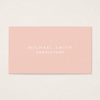 Professional Plain Elegant Interior Decorator Pink Business Card