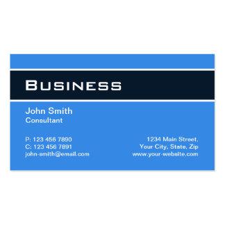 Professional Plain Elegant Modern Blue Simple Pack Of Standard Business Cards