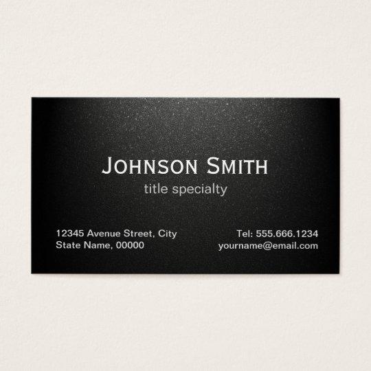 Professional Plain Matte Black - Simple Stylish Business