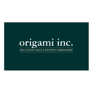 PROFESSIONAL plain modern simple smart dark green Pack Of Standard Business Cards